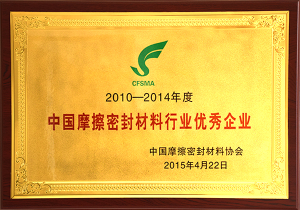 Outstanding Enterprise in China Friction and Sealing Material Industry